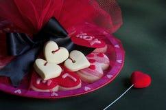 Cookies do coração imagens de stock