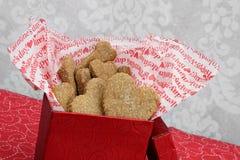 Cookies do coração do Valentim para seu cão Foto de Stock Royalty Free