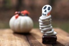 Cookies do crânio de Dia das Bruxas imagens de stock