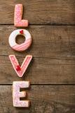 Cookies do dia de são valentim Imagens de Stock Royalty Free