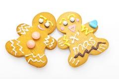 Cookies do homem do pão do gengibre Imagem de Stock