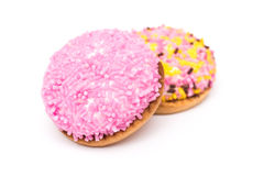 Cookies do marshmallow com Sugar Sprinkles colorido Foto de Stock Royalty Free