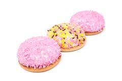 Cookies do marshmallow isoladas Foto de Stock Royalty Free