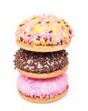 Cookies do marshmallow isoladas Imagens de Stock Royalty Free