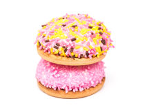 Cookies do marshmallow isoladas Imagens de Stock