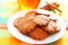 Cookies do mel com canela Foto de Stock