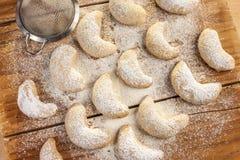 Cookies do Natal com baunilha Fotografia de Stock Royalty Free