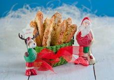 Cookies do Natal com Santa Claus Foto de Stock