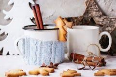 Cookies do Natal do biscoito amanteigado para copos Foto de Stock Royalty Free