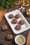 Cookies do Natal do chocolate Foto de Stock