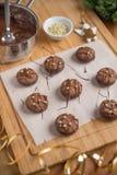Cookies do Natal do chocolate Fotos de Stock Royalty Free