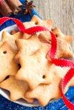 Cookies do Natal do pão-de-espécie Imagens de Stock Royalty Free