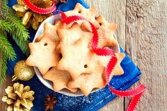 Cookies do Natal do pão-de-espécie Fotos de Stock Royalty Free