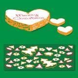 Cookies do Natal do pão-de-espécie dos desenhos animados Fotos de Stock