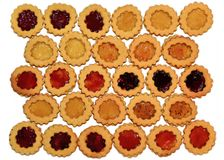 Cookies do Natal - muitas pastelarias curtos coloridas Imagem de Stock Royalty Free