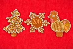 Cookies do Natal para 2017 Imagem de Stock
