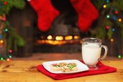 Cookies do Natal para Santa With Copy Space Fotos de Stock Royalty Free