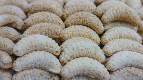 Cookies do Natal - rolos do coco Imagens de Stock Royalty Free