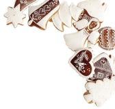 Cookies do pão-de-espécie com espaço da cópia abaixo foto de stock
