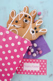 Cookies do pão-de-espécie do coelhinho da Páscoa Imagens de Stock