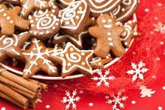 Cookies do pão-de-espécie do Natal Foto de Stock