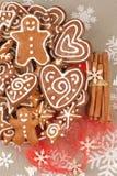 Cookies do pão-de-espécie do Natal Fotografia de Stock