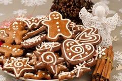 Cookies do pão-de-espécie do Natal Foto de Stock Royalty Free