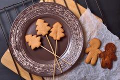 Cookies do pão-de-espécie, homem de pão-de-espécie Imagem de Stock Royalty Free