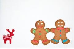 Cookies do pão-de-espécie no branco Imagem de Stock Royalty Free
