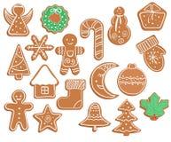 Cookies do pão-de-espécie no fundo branco ilustração royalty free