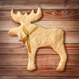 Cookies do pão-de-espécie no fundo de madeira Imagem de Stock
