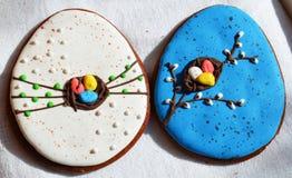 Cookies do pão-de-espécie para a Páscoa Fotografia de Stock Royalty Free