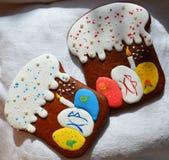 Cookies do pão-de-espécie para a Páscoa Fotos de Stock