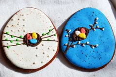 Cookies do pão-de-espécie para a Páscoa Fotografia de Stock