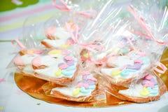 Cookies do unicórnio que cobrem o partido Imagens de Stock
