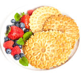 Cookies do waffle Fotos de Stock Royalty Free