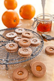 cookies Doce-enchidas Imagem de Stock Royalty Free