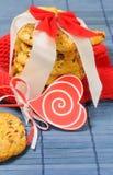 Cookies doces para o dia de Valentim Imagem de Stock
