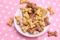 Cookies for Dogs. Some cookies for dogs made of meat and vegetables Stock Images