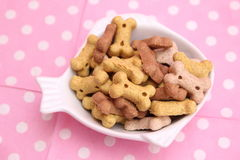 Cookies for Dogs. Some cookies for dogs made of meat and vegetables Royalty Free Stock Photo