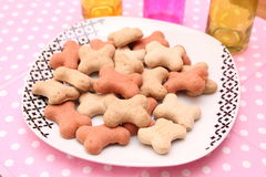 Cookies for Dogs. Some homemade cookies for Dogs with pork meat Stock Photos