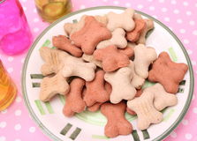 Cookies for Dogs. Some homemade cookies for Dogs with pork meat Stock Photography