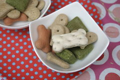 Cookies for Dogs. Some homemade cookies for dogs with vegetables Royalty Free Stock Photo