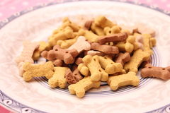 Cookies for Dogs. Some cookies for dogs made of meat and vegetables Stock Photo