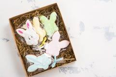 Cookies dos coelhinhos da Páscoa Fotos de Stock Royalty Free