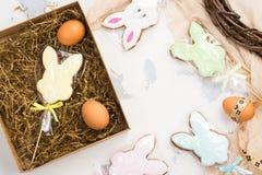 Cookies dos coelhinhos da Páscoa Imagem de Stock Royalty Free