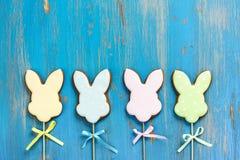 Cookies dos coelhinhos da Páscoa Imagens de Stock