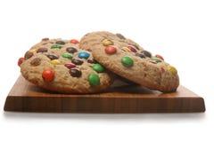Cookies dos doces de chocolate fotografia de stock