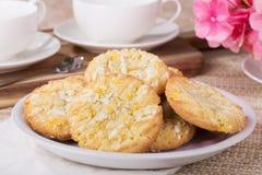 Cookies dos estalidos do limão Imagens de Stock