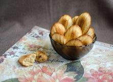 Cookies dos madeleines da amêndoa Fotografia de Stock Royalty Free